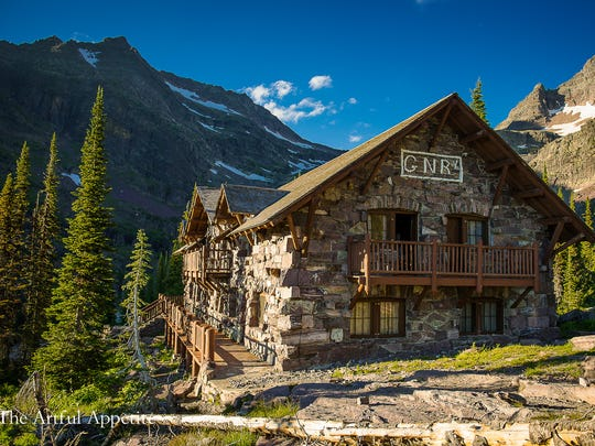 Sperry Chalet was built in 1913 and destroyed by the