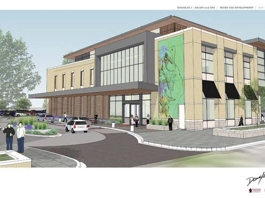 A rendering of Douglas J's proposed salon and spa at