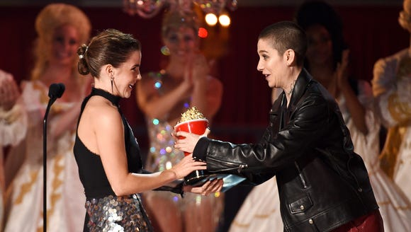 After Emma Watson was handed the Golden Popcorn for