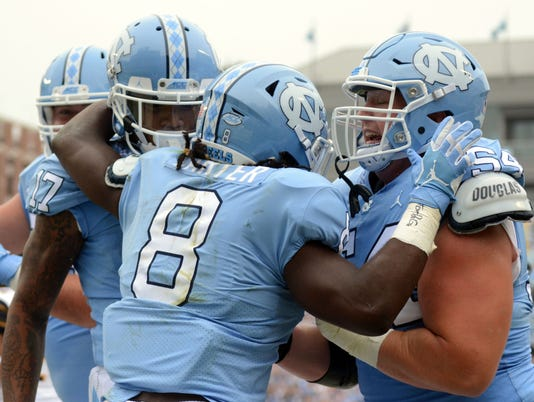 NCAA Football: California at North Carolina