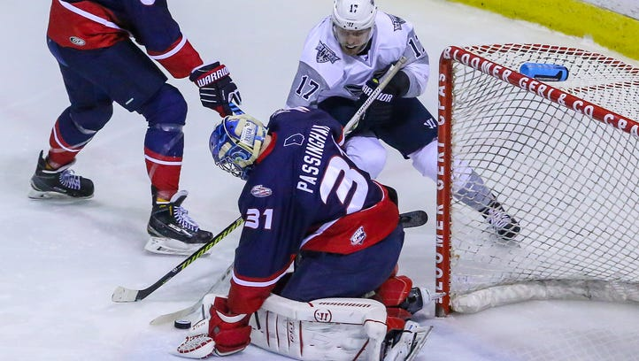 Ice Flyers lose  three-goal lead, then game Saturday against Macon