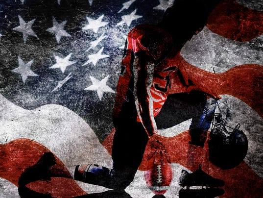 Stars and stripes in grunge style
