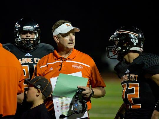 Marine City coach Ron Glodich