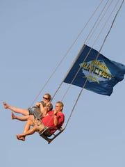 Fans on the Delaware Junction swing ride in Harrington last year.