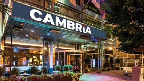 A Cambria Hotel and Suites under development in downtown Milwaukee is expected to open in summer 2019.