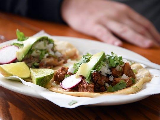 "Carnita tacos at Tacos Matamoros on Clifton Food Crawl. Kenny West calls them the ""best tacos."""