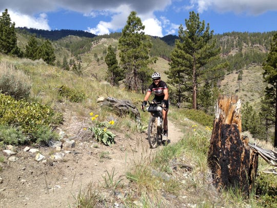 Rider Kurt Sandiforth in Kings Canyon in Carson City. Sandiforth, of Carson City, and Blake Bockius of Truckee were the first riders to complete the Comstock EPIC, a 552-mile race across Nevada.
