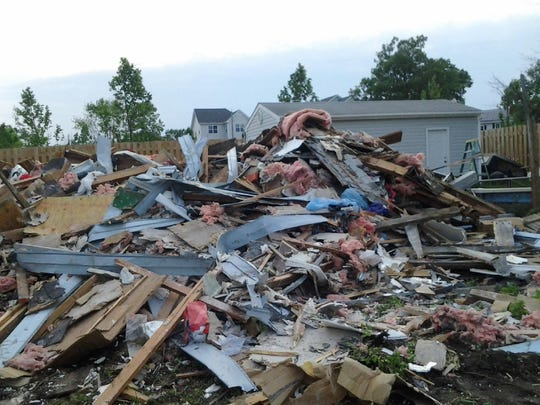 A Union Beach home was reduced to rubble Monday after it collapsed during an elevation project. Records show one of the contractors involved was not licensed to do home improvement work in New Jersey.