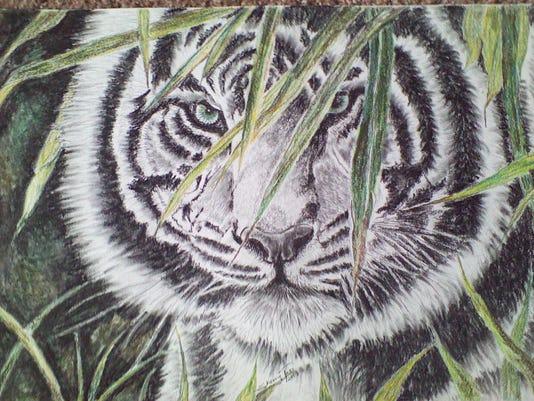Tuss Tiger painting