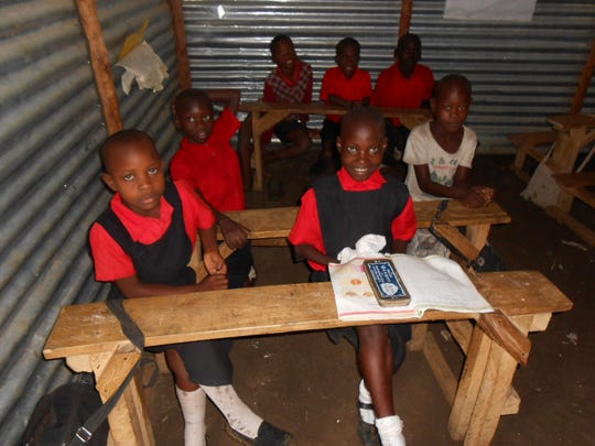 Students study at Lake View Boda School in Suba, Kenya. This is one of several schools supported by Joining Hearts and Hands.