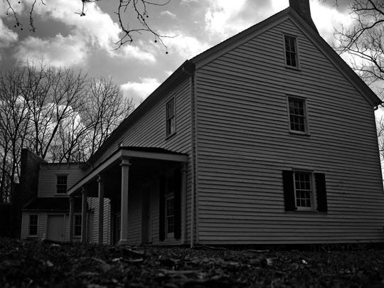 """A side view of the """"Big House"""" at Allaire Village."""