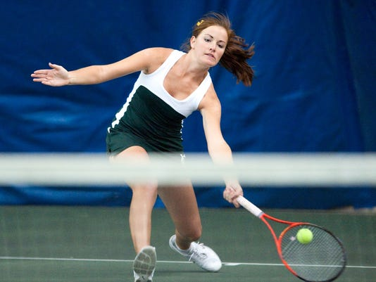 York Catholic's Anna Spoden captured the YAIAA Class AA singles title last week and is in the District 3 Class AA semifinals today in Hershey. (For the Daily Record/Sunday News -- Jeff Lautenberger)