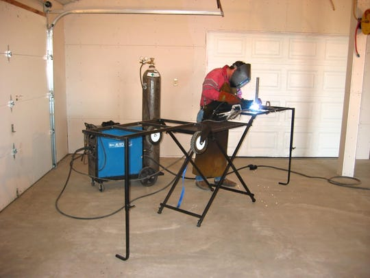 The Lee Unlimited Power Bench is durable enough for the heaviest material and for welding.