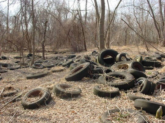 Abandoned tires found at Hatfield Meadow in East Hanover in 2010