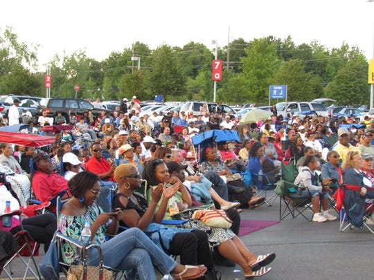 Large crowds enjoy the summertime jazz concerts in the Ford Road shopping corridor.