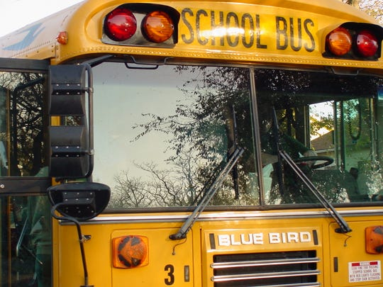A school bus crashed with a vehicle just before 8 a.m. Tuesday morning in Bethel Grove.