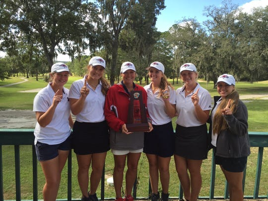 The Wakulla girls golf team won a District 1-2A title on Tuesday in Lake City.