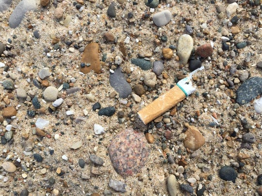 Cigarette butts are always one of the top three litter items found during beach cleanups, along with food wrappings and plastic bottles.