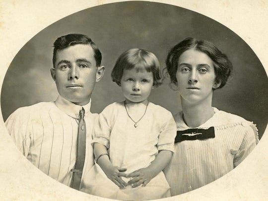 Floyd and Love Emhoff were the original owners. They are pictured here with their daughter Helen.