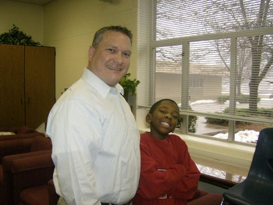 Daryle Zybert and Corey White in 2007, during the early days of the Big Brother relationship.