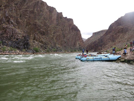 A look at the raft that took the tour group down the Colorado River.