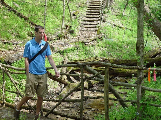 Nate Cummings walks the Germania trail during a past volksmarch.