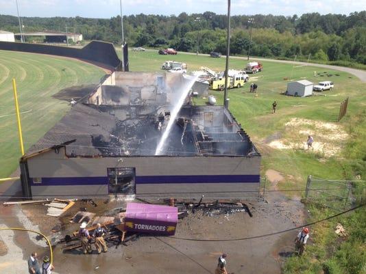 Purvis High field house fire