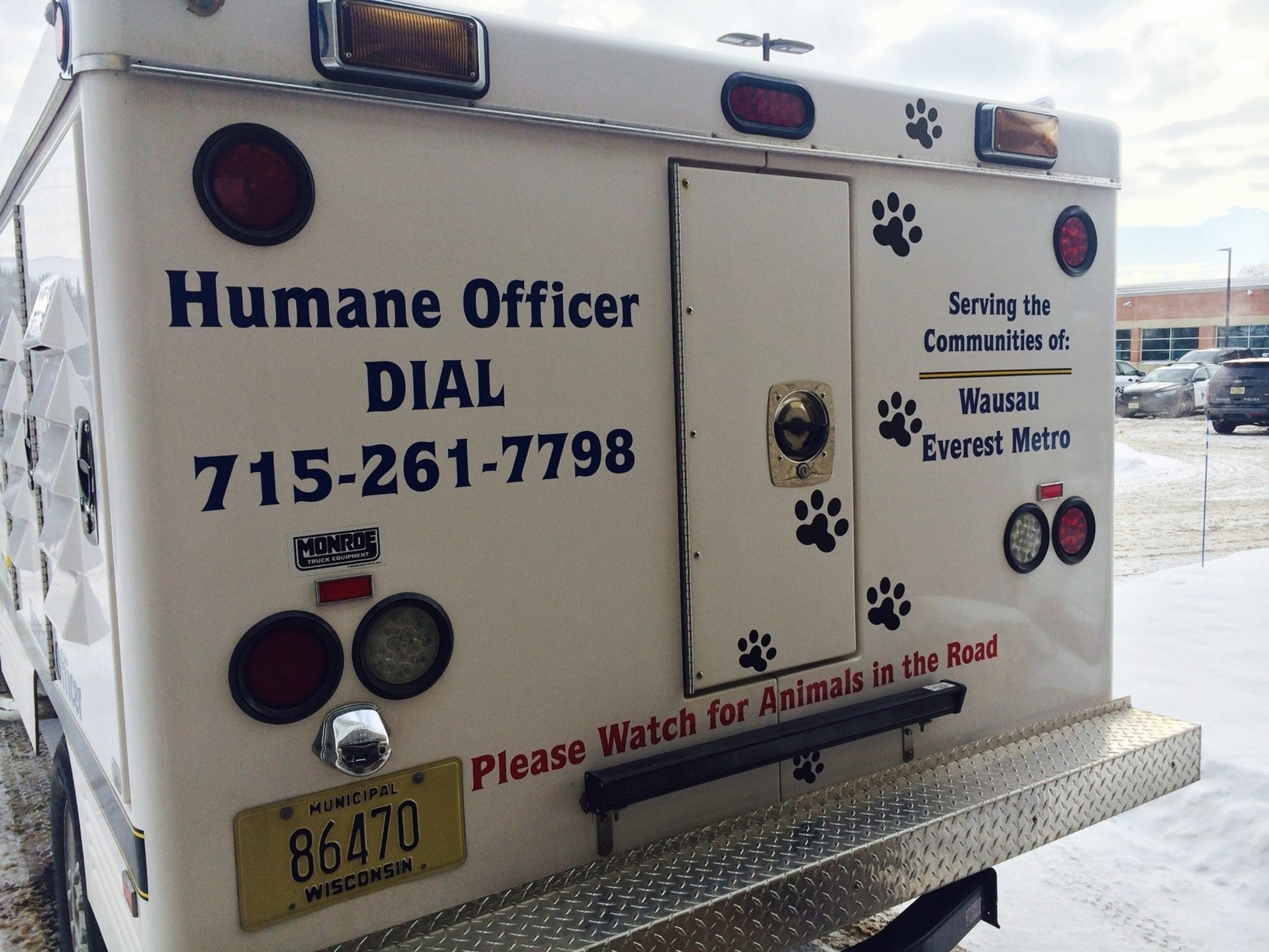 The Wausau and Everest Metro Humane Officer's truck