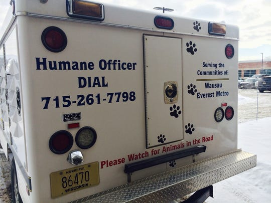 The Wausau and Everest Metro Humane Officer's truck — photographed here on Jan. 15, 2015 — is equipped with kennels for strays and lost pets.