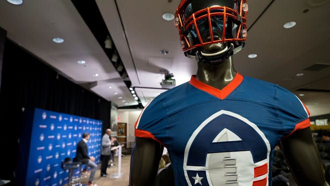 Alliance of American Football hold a press conference to introduce Phoenix's new head coach, Rick Neuheisel.