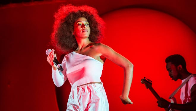 Solange Knowles performs at the Okeechobee Music and Arts Festival on March 4, 2017, in Okeechobee, Fla.