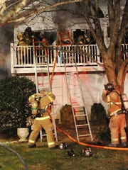 Rehoboth Beach fire department was assisted by Lewes,