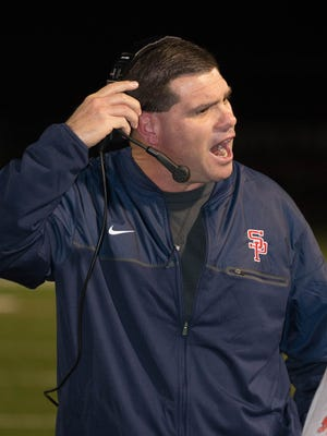Lance Pogue reacts to a play during the first round of the 6A playoffs in South Panola last week against Warren Central.