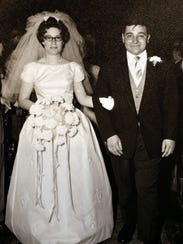 The wedding day photo of Shirley and Bill Gaudioso