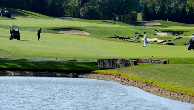 Briarcliff Manor officials allege that Trump National Golf Club manipulated the outflow of ponds on the course, which led to flooding in June 2011 down the hill in Law Memorial Park, with the flood waters inundating the village swimming pool and adjacent playing fields, causing substantial damage.