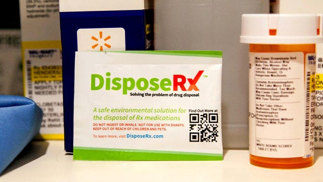 A powder known as DisposeRX, when mixed with warm water and prescription medication in a pill bottle creates a solid that can then be thrown out safely in the trash, without the risk of contaminating groundwater.
