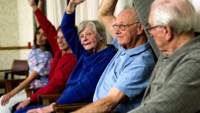 Chair exercise is increasingly popular among elderly people. Tai chi, shadow boxing, stretching and jug raises are also good for improving balance and strength in seniors.