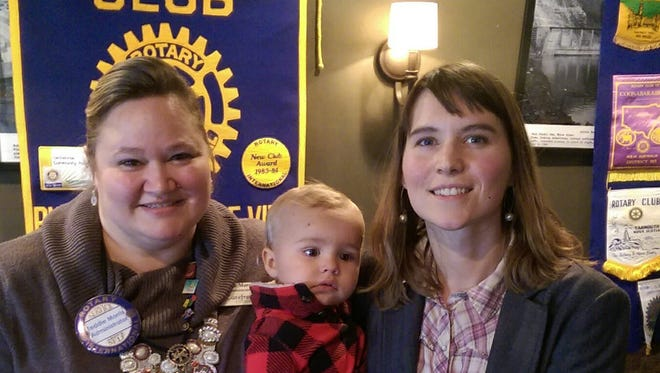 Bull Shoals-Lakeview Rotarian Teddie Morris with guest speaker Lea Hawkins and her son Lucian. Lea spoke about The Imagination Library. A new program sponsored by the Bull Shoals-Lakeview Rotary Club. This program will offer free monthly books to children 0-5 years. The goal is to foster a love of reading in preschool age children and their families. This program will serve all of Marion County, Lakeview, Midway, Whiteville, Gassville, and Cotter. For more information call Hawkins at (870) 404-4175.