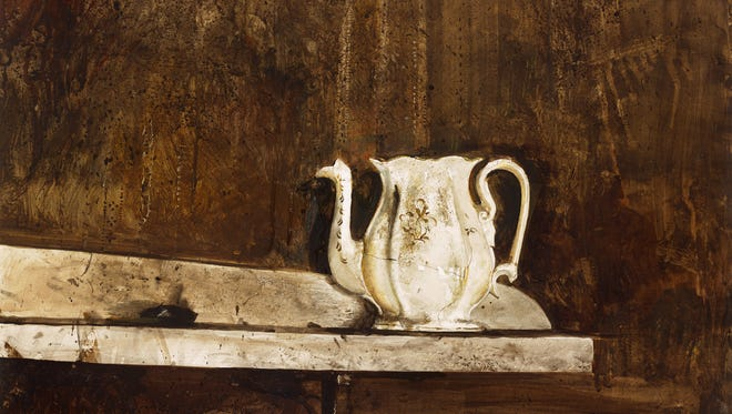 "Andrew Wyeth, ""Christina's Teapot,"" watercolor and pencil on paper, 1968"