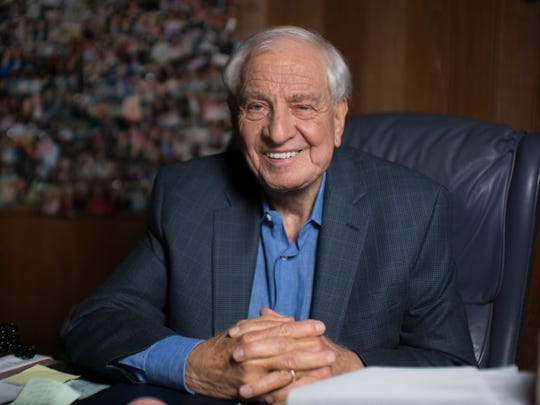 Garry Marshall posed for a USA TODAY portrait in April at his Burbank, Calif., office.