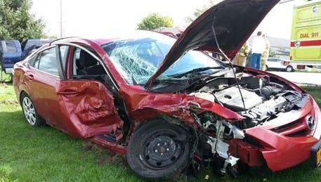 A crash in Oakfield, Genesee County that happened around 1 o'clock in the afternoon on Sunday.