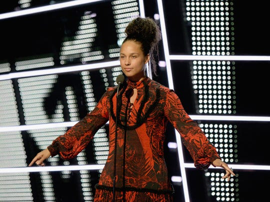 Alicia Keys performs onstage during the 2016 MTV Video