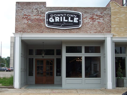 The first business to open its doors in the new multimillion-dollar Greenville restoration project is the Downtown Grille.