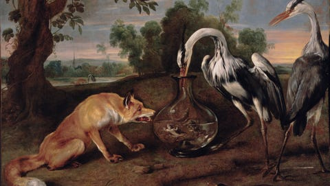 The Fox and the Heron (ca. 1630-1640), an oil-on-canvas by Frans Snyders, will be part of the emoji-based scavenger hunt during a MAD MAG party.
