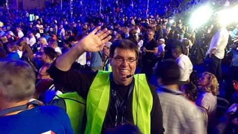 Shawn Bagley at teh 2016 Democratic National Convention in Philadelphia. He serves on the California Delegation to the Democratic National Committee