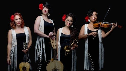 Mariachi group Flor De Toloache will perform in a free outdoor concert Aug. 26as part of the 2017 Muncie Three Trails Music Series.