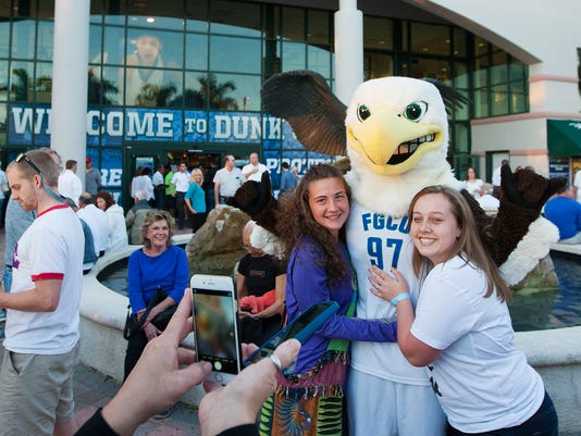 Fans get in the spirit before FGCU's Atlantic Sun Conference Championship game against Stetson.