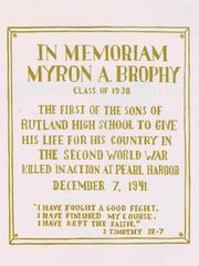 This in memoriam appeared in the 1942 Rutland High