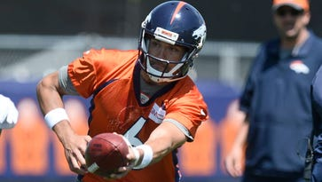 Broncos quarterback Mark Sanchez is considered the front-runner to start Week 1 for the defending Super Bowl champions.
