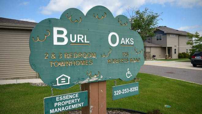 The affordable housing development Burl Oak Townhomes is pictured Monday, Aug. 14., on Roberts Road in Sartell.